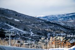 Winter Ski Resort Stock Photography