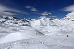 Winter ski resort of Tignes-Val d Isere, France Royalty Free Stock Image