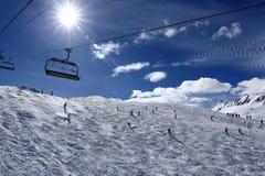 Winter ski resort of Tignes-Val d Isere, France Stock Photo