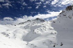 Winter ski resort of Tignes-Val d Isere, France Stock Images