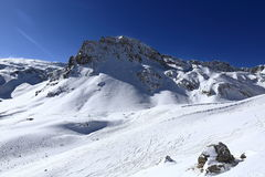 Winter ski resort of Tignes-Val d Isere, France Royalty Free Stock Photo