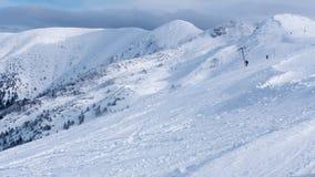 Winter in ski resort Vratna, Slovakia Stock Photography
