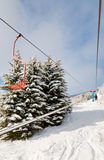 Winter ski ropeway Stock Photography