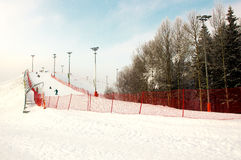 Winter ski slope Royalty Free Stock Image