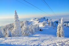 Winter ski slope Stock Images