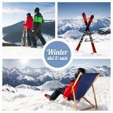 Winter ski and sun. Winter ski, sun and snow Stock Images