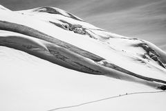 Winter ski touring Royalty Free Stock Images