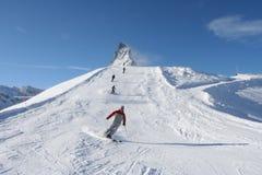 Winter skiing Royalty Free Stock Photos