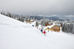 Winter skiing resort Stock Photos