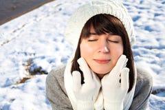 Winter skincare Stock Photo