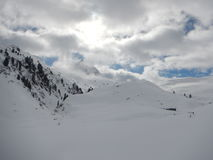 Winter skitouring and climbing in austrian alps Royalty Free Stock Photos