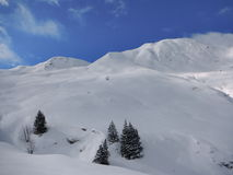 Winter skitouring and climbing in austrian alps Royalty Free Stock Photo