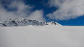 Winter skitouring and climbing in austrian alps Royalty Free Stock Images