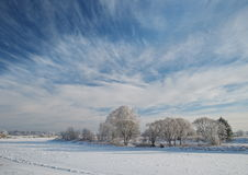 Winter in Skrunda Stock Photos