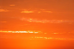 Orange sky background. Winter sky background  with orange colors early in the morning Royalty Free Stock Photo