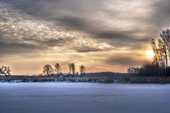 Winter sky extravaganza Royalty Free Stock Images