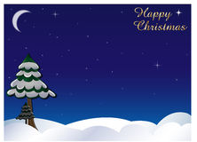 Winter sky happy christmas Stock Image