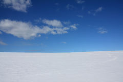 Free Winter Sky Horizon Snow And Clouds Stock Photo - 13343430