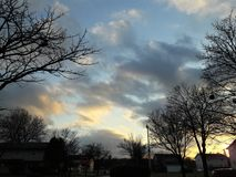 Winter Sky. Just another day, standing on the sidewalk Royalty Free Stock Photography