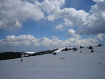 Winter sky Kopaonik. Winter sky, 2000 meters above sea level, with a rich in nature Royalty Free Stock Photography