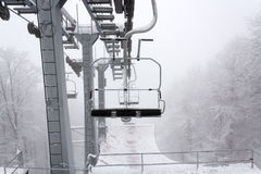 Winter sky lift Stock Photo