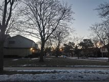 Winter Sky Lights Blur. The view from my house Royalty Free Stock Photos