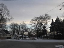 Winter Sky Lights. After getting off a bus on the way home, I was met with this beautiful scene Royalty Free Stock Images