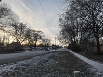 Winter Sky Lights. After getting off a bus on the way home, I was met with this beautiful scene Royalty Free Stock Photography