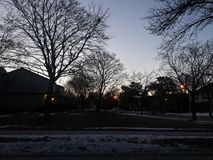 Winter Sky Lights. The view from my house Stock Photos