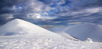 Winter sky. In the mountains Stock Images