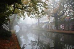 Winter-sky over De Zaanse Schans in Holland Royalty Free Stock Photos