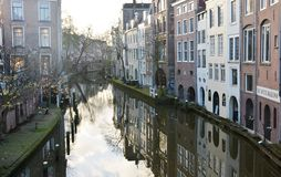 Winter-sky over De Zaanse Schans in Holland Royalty Free Stock Photography