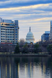 Winter Sky Over US Capitol Washington DC Royalty Free Stock Images