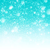 Winter sky with snowing illustration Stock Image