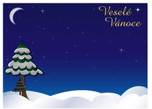 Winter sky veselé vánoce Royalty Free Stock Images