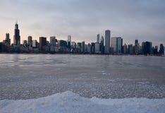 Winter-Skyline an der Dämmerung Lizenzfreie Stockfotos