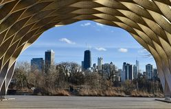 Winter Skyline From the Honeycomb Stock Photo