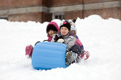 Winter Sledding Stock Photos