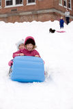 Winter Sledding Stock Photo