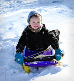 Winter Sledding Fun Royalty Free Stock Photo