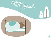Winter sleep Stock Image