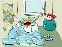 Winter Sleep Cartoon. Winter Sleep hand drawing. Illustration is in eps10  mode Stock Image