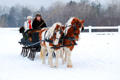Winter Sleigh Ride Stock Photos