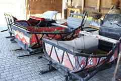 Winter sleigh supply in Peasant Museum Royalty Free Stock Images