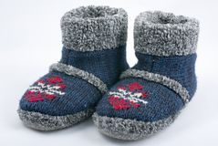 Winter slippers Stock Photo