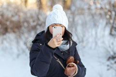 Winter Smartphone Photography Royalty Free Stock Photos