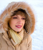 Winter smile Stock Photos