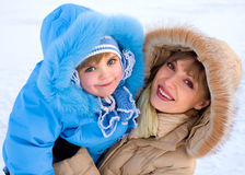 Winter smiles Royalty Free Stock Photo
