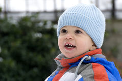 Winter smiling Royalty Free Stock Image