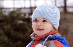Winter smiling Stock Photos